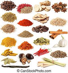 selectie, gevarieerd, specerij