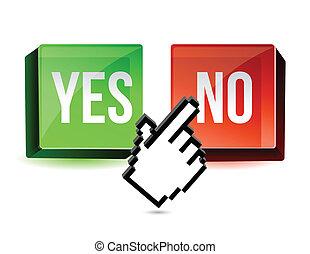 Selecting No