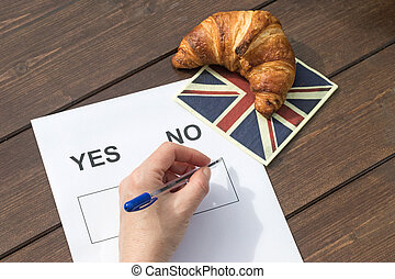 Selecting NO in the referendum