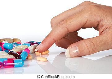 Selecting pills