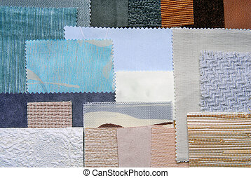 selection color for interior decora - close up of the...