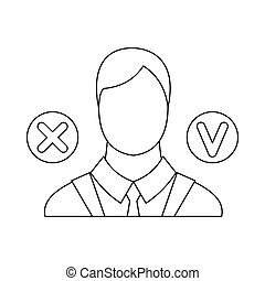 Selection icon, outline style