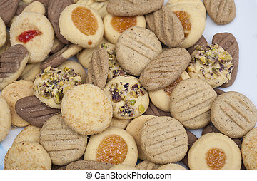 Selection of biscuits on a plate