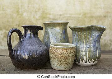 Selection of ceramic jugs