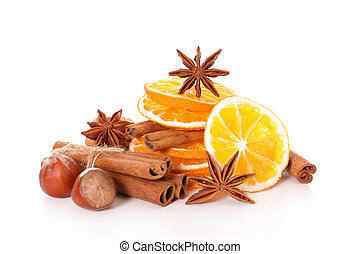 selection of christmas spices
