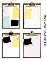 Selection of clipboards with attachments (XXL)