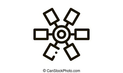 selection of colors in cartridge Icon Animation. black selection of colors in cartridge animated icon on white background