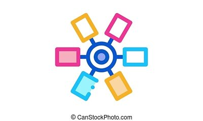selection of colors in cartridge Icon Animation. color selection of colors in cartridge animated icon on white background