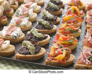 Selection of Crostini