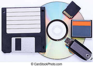 Selection of different computer storage devices for data and...