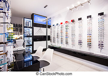 Selection of eyeglasses - Selection of modern eyeglasses ...