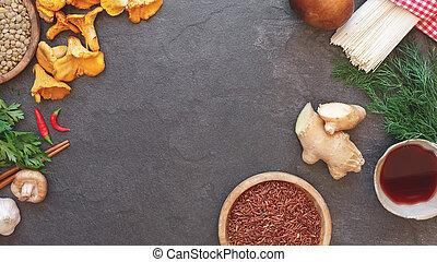 Selection of fresh food ingredients