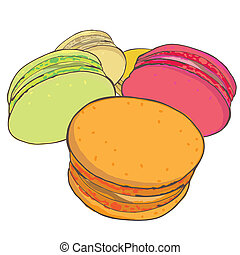 Selection of hand drawn Macaroons