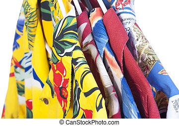 Selection of Hawaiian shirts - Selection of five colorful...
