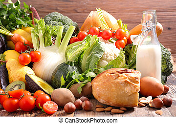selection of healthy eating concept