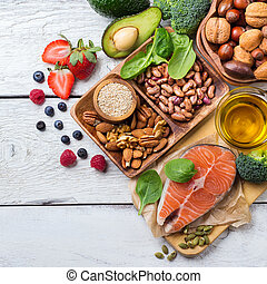 Selection of healthy food for heart, life concept - ...