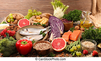 selection of healthy food