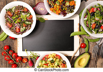 selection of healthy vegetable salad