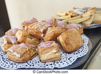 Selection of pastries on a plate