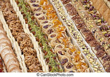 Selection of petit fours - Selection of luxury oriental...