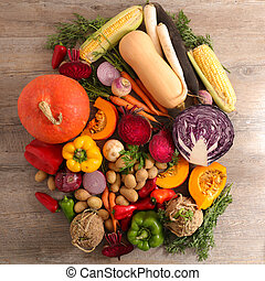selection of raw vegetables
