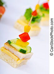 Selection of various canape