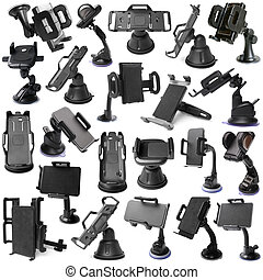 Selection of various car holders
