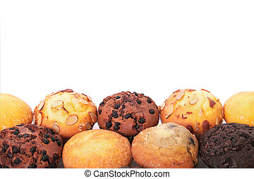 Selection of various muffin cakes