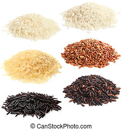 Selection of various rice