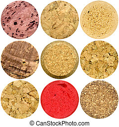 Selection of various wine corks