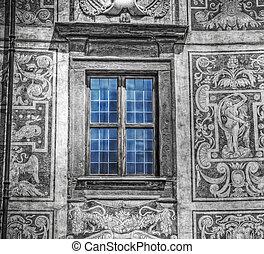 selective desaturation of a blue window in Palazzo della...