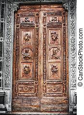 selective desaturation of Santa Croce front door in...