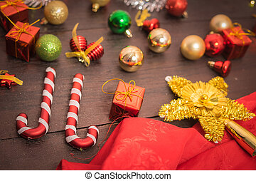 selective focus Christmas backgroun