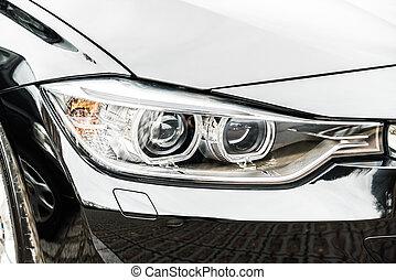 Headlight lamp car - Selective focus point on Headlight lamp...