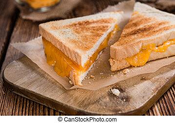 (selective, sanduíche queijo, focus)