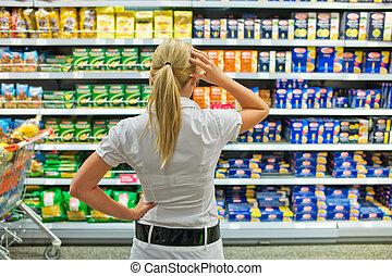 selekce, supermarket
