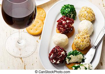 seletivo, queijo, balls., mini, foco