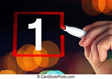 selezionare, concetto, uno, numero, affari