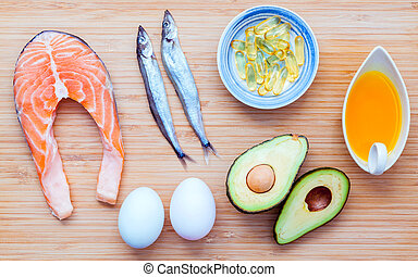 selezione, cibo, grassi, fonti, 3, omega, insaturo