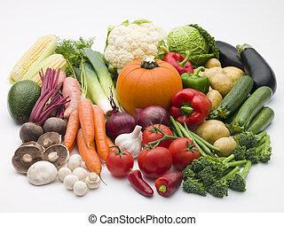 selezione, di, verdure fresche