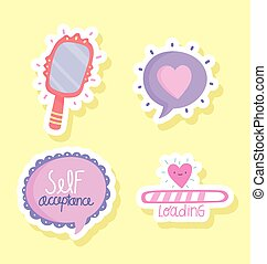 self acceptance lettering mirror love