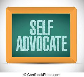 self advocate message illustration design over a white background