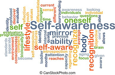 Self-awareness background concept - Background concept...