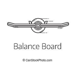 Self Balance Board Illustration