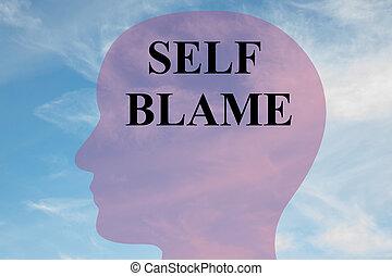 Self Blame concept - Render illustration of 'SELF BLAME'...