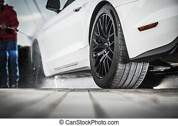 Self Car Washing