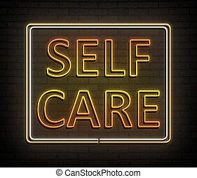 Self care concept. - 3d Illustration depicting an...