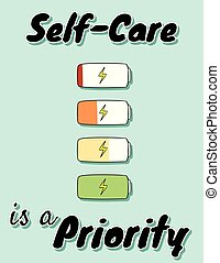 Self-care is a priority. Charge your inner battery....