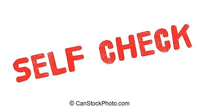 Self Check rubber stamp