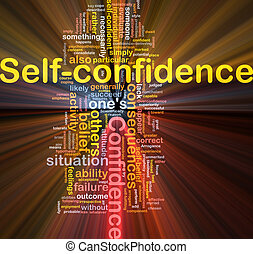 Self-confidence is bone background concept glowing - ...